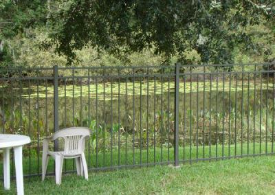 aluminum fence hidden lake
