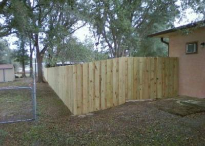 6' Board-on-Board -wood fence - Fence It orgcwb20190805 17