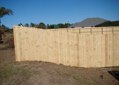 6' Board-on-Board -wood fence - Fence It orgcwb20190805 9
