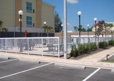 Best Western Leesburg, FL - Aluminum fence - Fence It orgcwb20190805 1