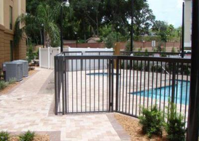 Hampton Inn Apopka, FL - Aluminum fence - Fence It orgcwb20190805 1