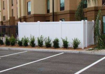 Hampton Inn Apopka, FL - Vinyl Fence - Fence It - orgcw20190805