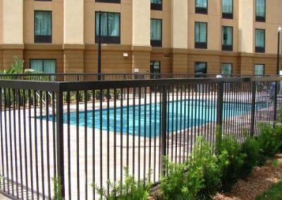 Hampton Inn Express Apopka, FL - Aluminum fence - Fence It orgcwb20190805 1