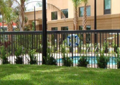 Hampton Inn Express Apopka, FL - Aluminum fence - Fence It orgcwb20190805