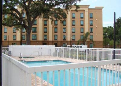 Holiday Inn Express Apopka, FL - Aluminum fence - Fence It orgcwb20190805 4